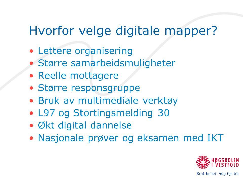 Hvorfor velge digitale mapper