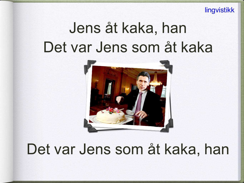 Det var Jens som åt kaka, han