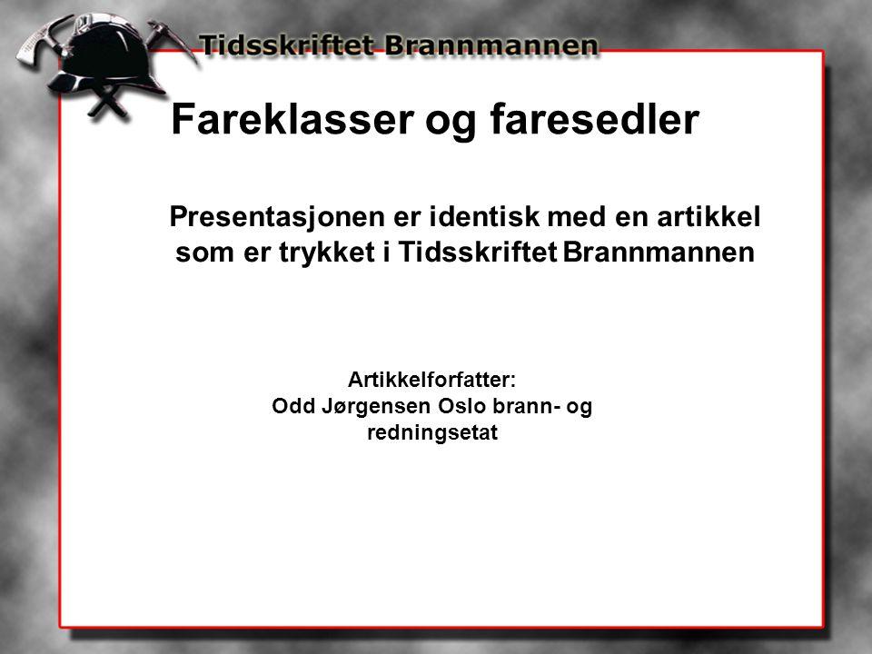 Odd Jørgensen Oslo brann- og redningsetat
