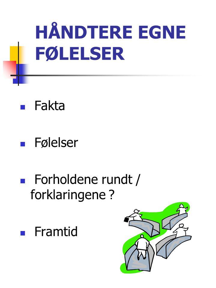 HÅNDTERE EGNE FØLELSER