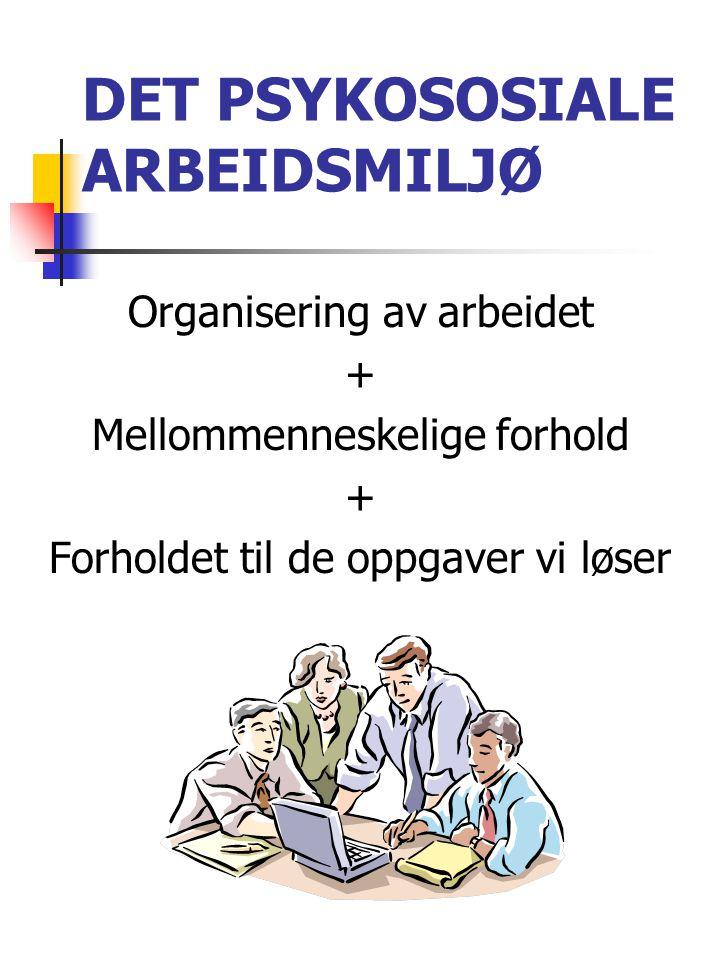 DET PSYKOSOSIALE ARBEIDSMILJØ