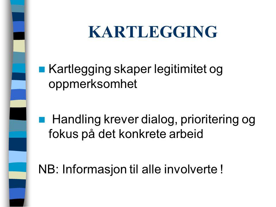 KARTLEGGING Kartlegging skaper legitimitet og oppmerksomhet