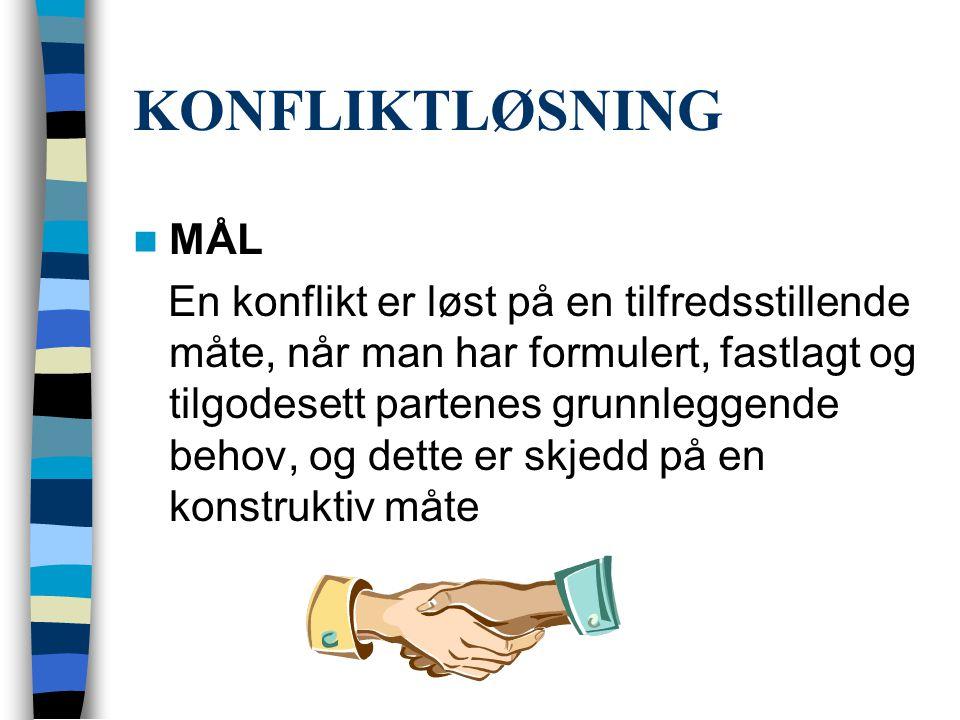 KONFLIKTLØSNING MÅL.