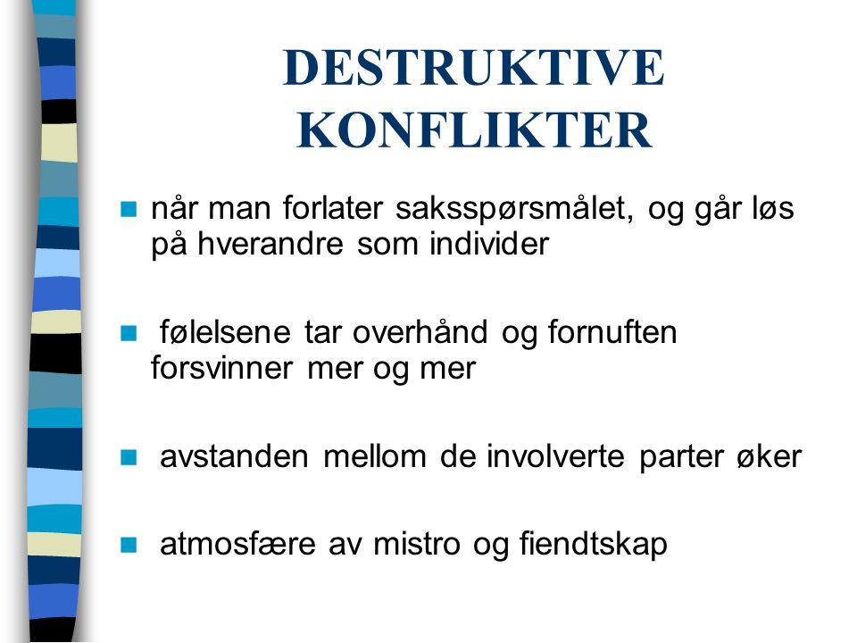 DESTRUKTIVE KONFLIKTER