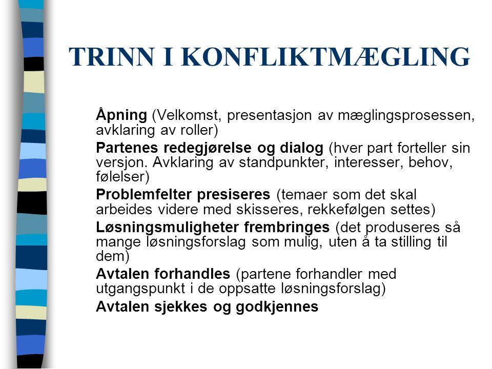 TRINN I KONFLIKTMÆGLING