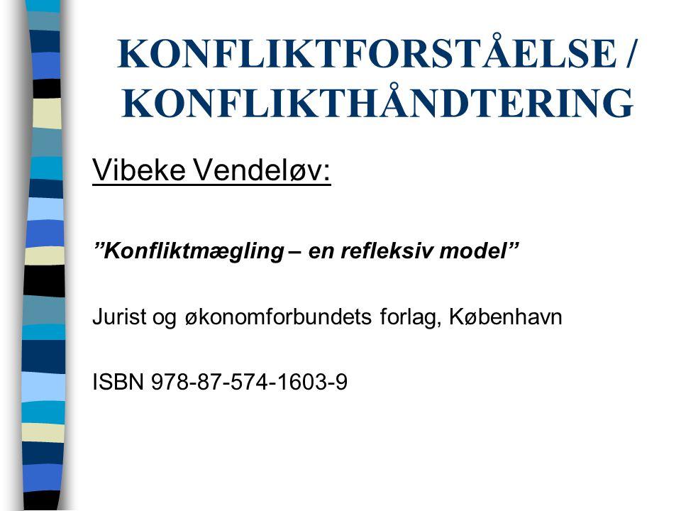 KONFLIKTFORSTÅELSE / KONFLIKTHÅNDTERING
