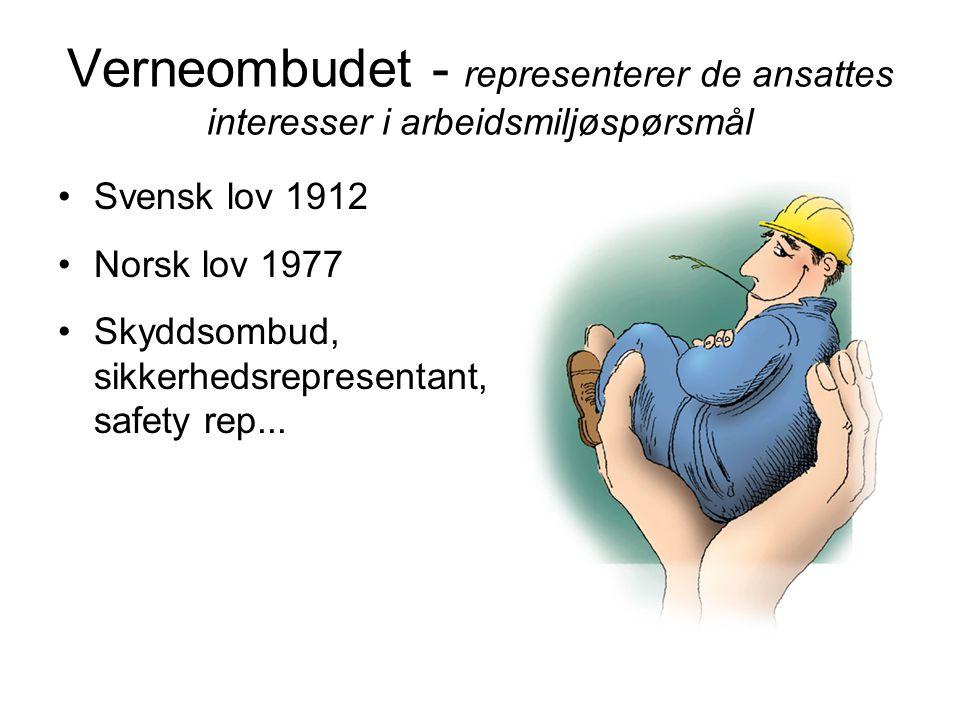 Verneombudet - representerer de ansattes interesser i arbeidsmiljøspørsmål