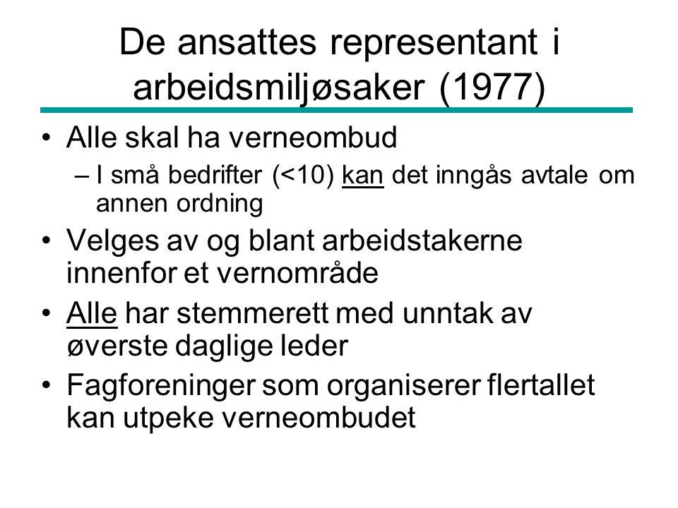 De ansattes representant i arbeidsmiljøsaker (1977)