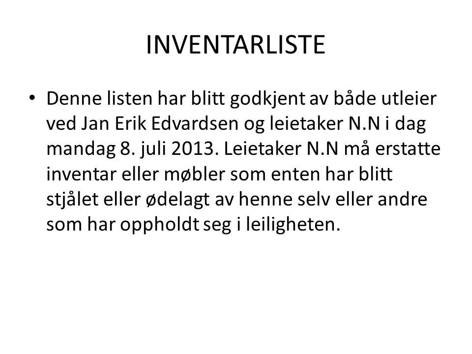 INVENTARLISTE