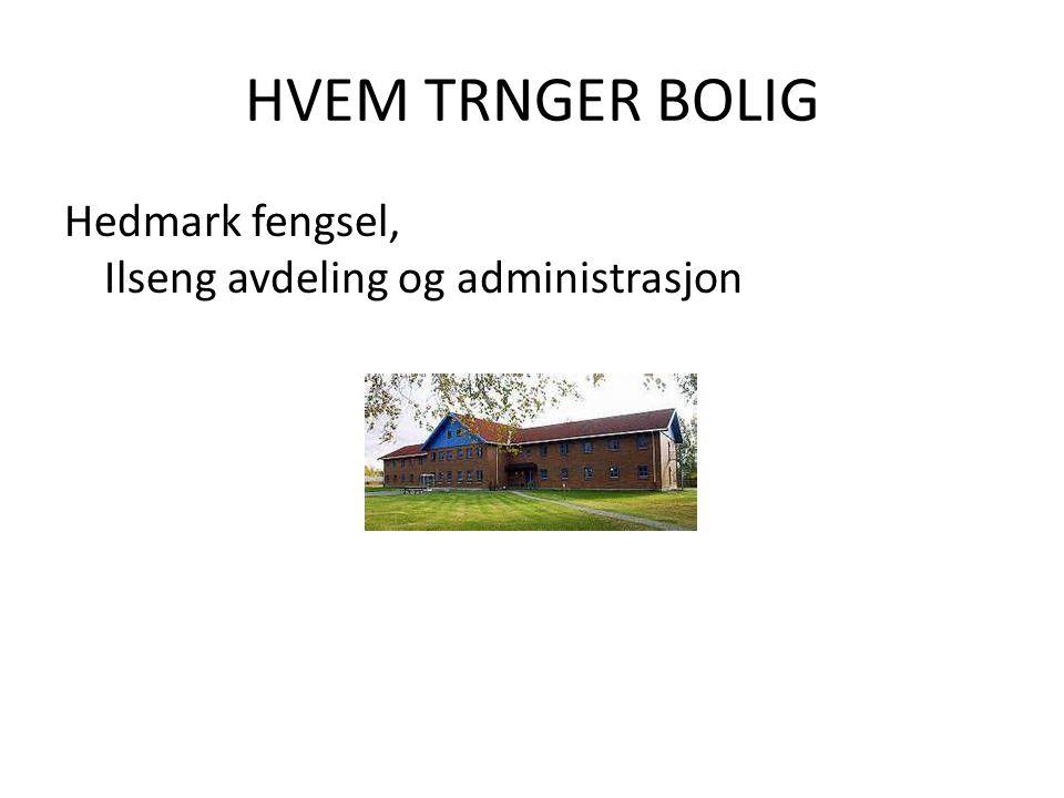 HVEM TRNGER BOLIG Hedmark fengsel, Ilseng avdeling og administrasjon.