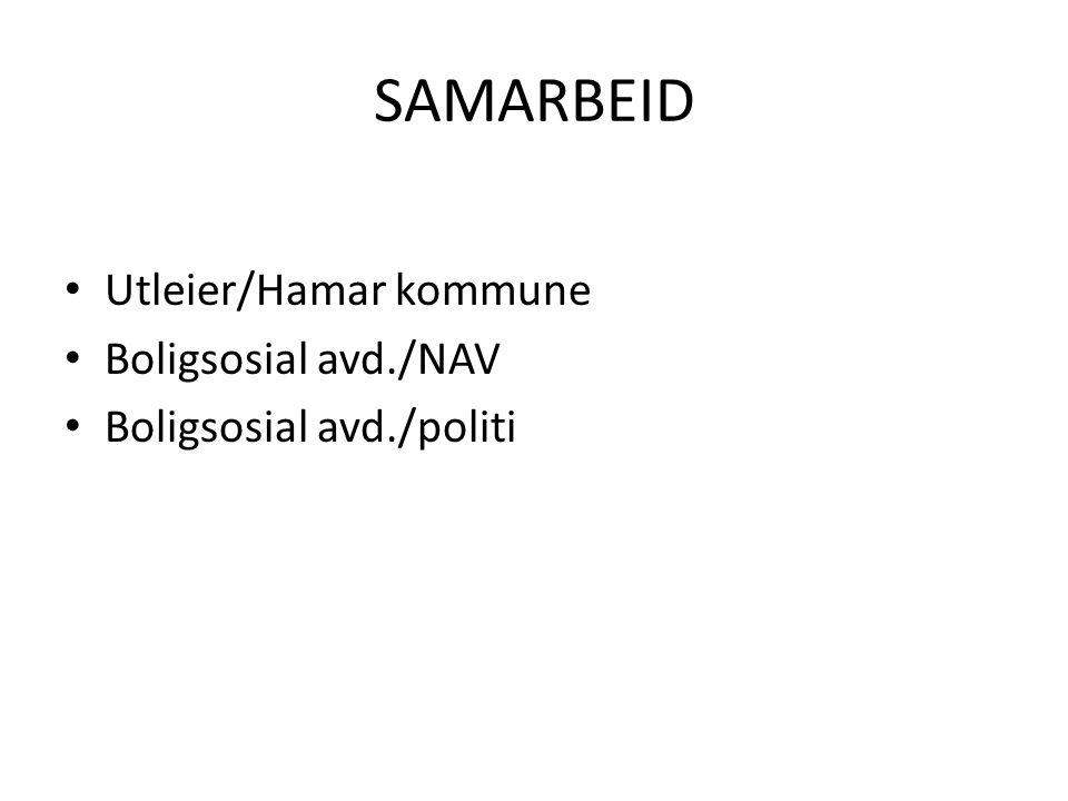 SAMARBEID Utleier/Hamar kommune Boligsosial avd./NAV