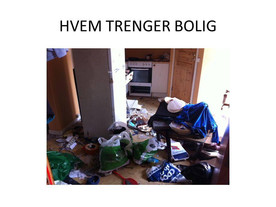 HVEM TRENGER BOLIG