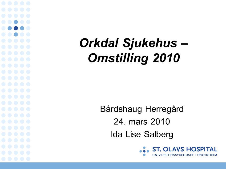 Orkdal Sjukehus – Omstilling 2010