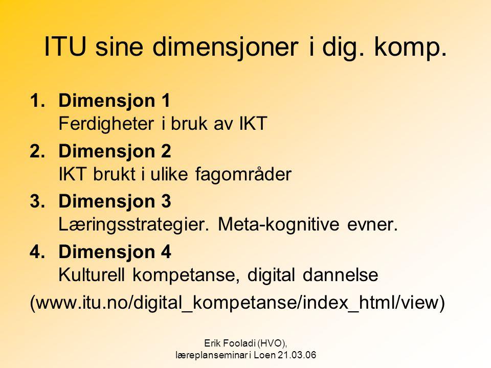 ITU sine dimensjoner i dig. komp.