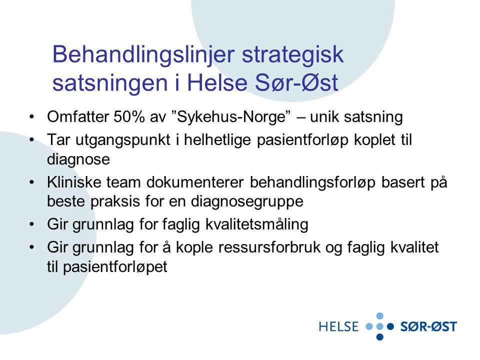 Behandlingslinjer strategisk satsningen i Helse Sør-Øst