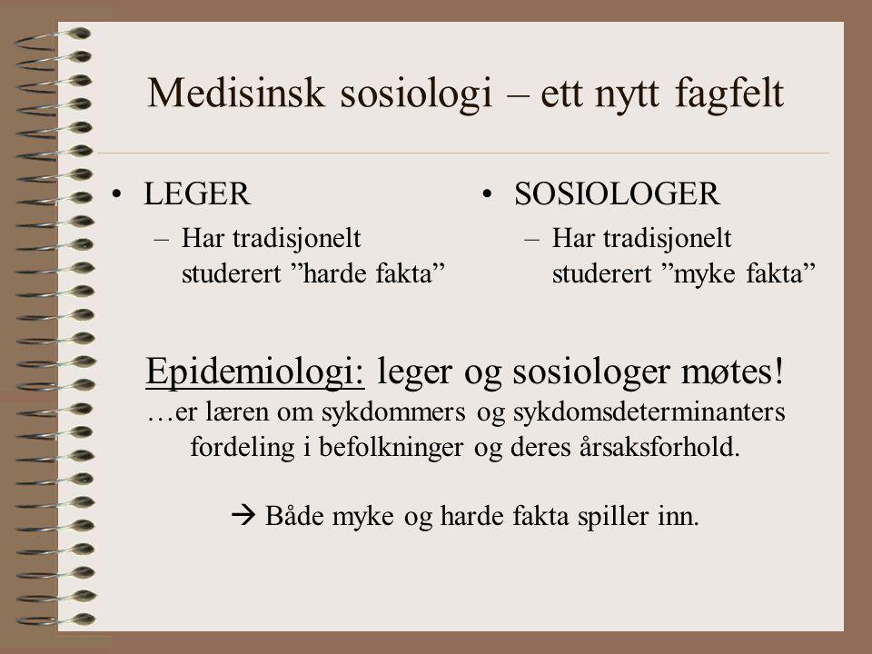 Medisinsk sosiologi – ett nytt fagfelt