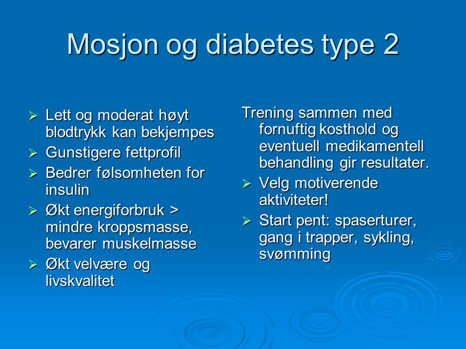 Mosjon og diabetes type 2
