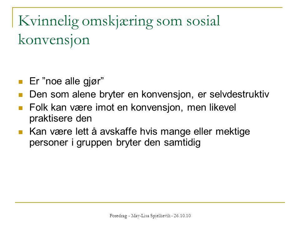 Kvinnelig omskjæring som sosial konvensjon