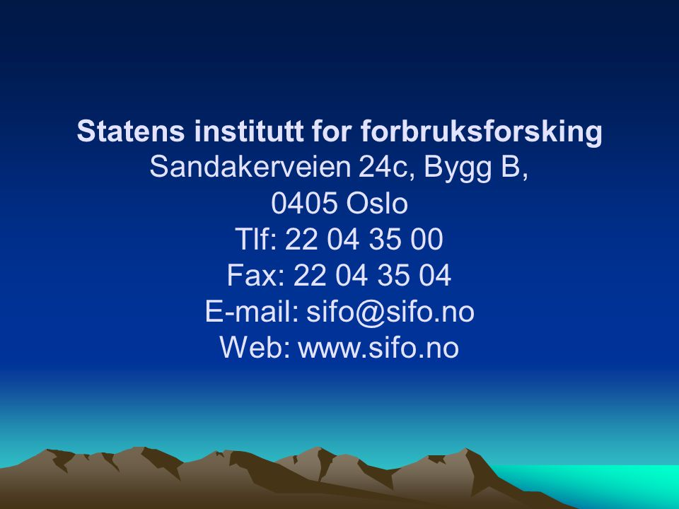 Statens institutt for forbruksforsking