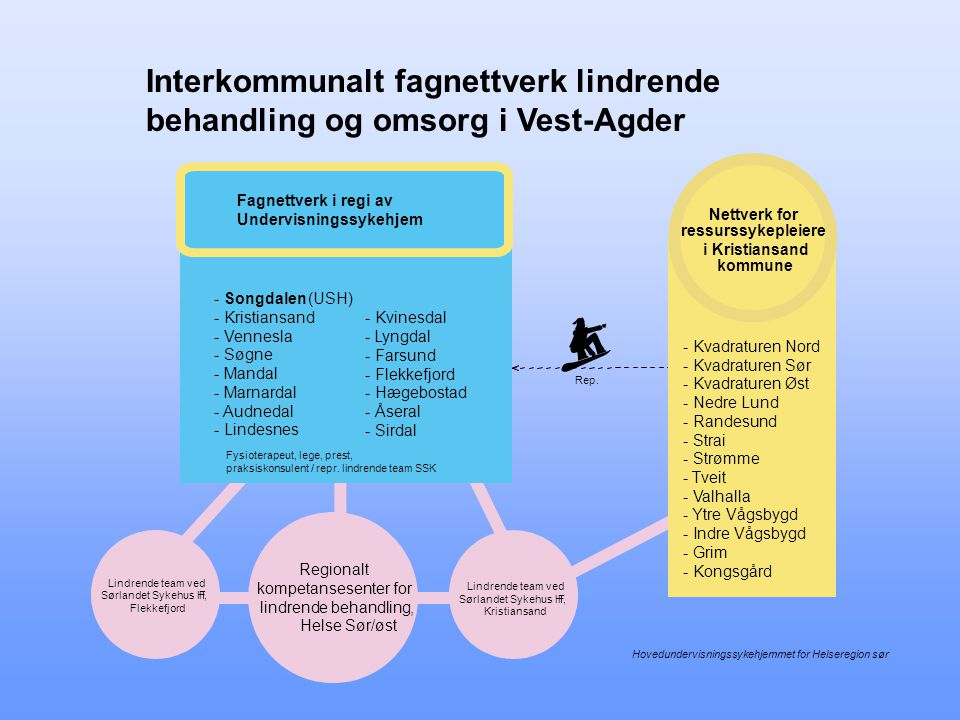Interkommunalt fagnettverk lindrende behandling og omsorg i Vest-Agder