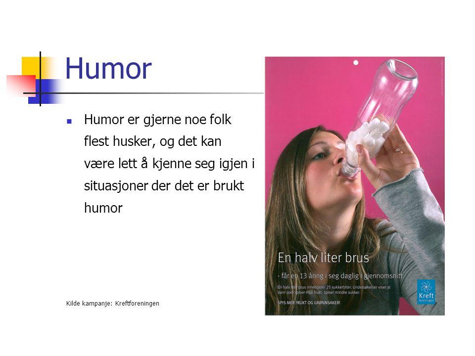 Humor Humor er gjerne noe folk flest husker, og det kan være lett å kjenne seg igjen i situasjoner der det er brukt humor.