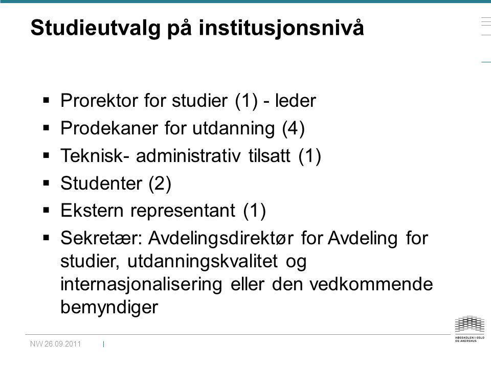 Studieutvalg på institusjonsnivå
