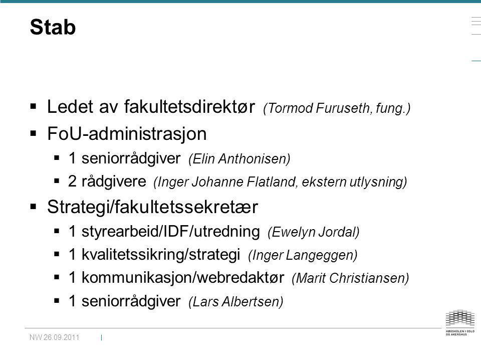 Stab Ledet av fakultetsdirektør (Tormod Furuseth, fung.)