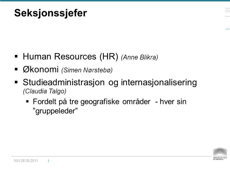 Seksjonssjefer Human Resources (HR) (Anne Blikra)