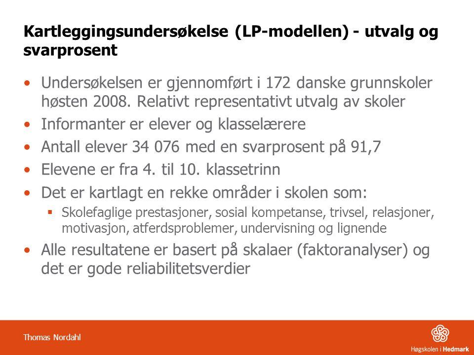 Kartleggingsundersøkelse (LP-modellen) - utvalg og svarprosent