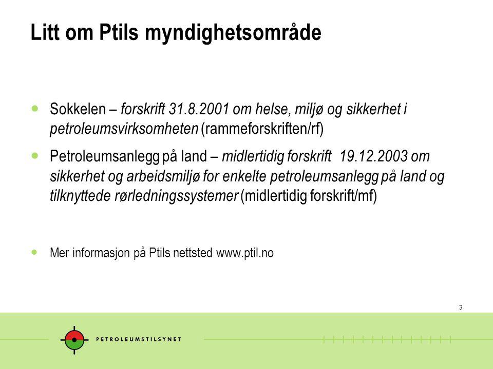 Litt om Ptils myndighetsområde