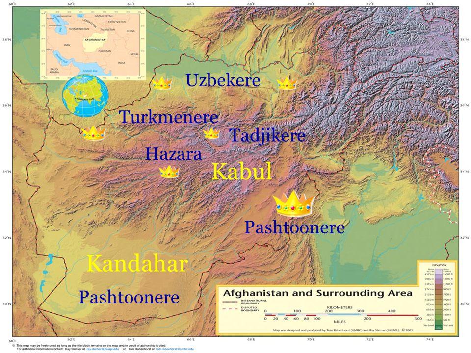 Kabul Kandahar Uzbekere Turkmenere Tadjikere Hazara Pashtoonere