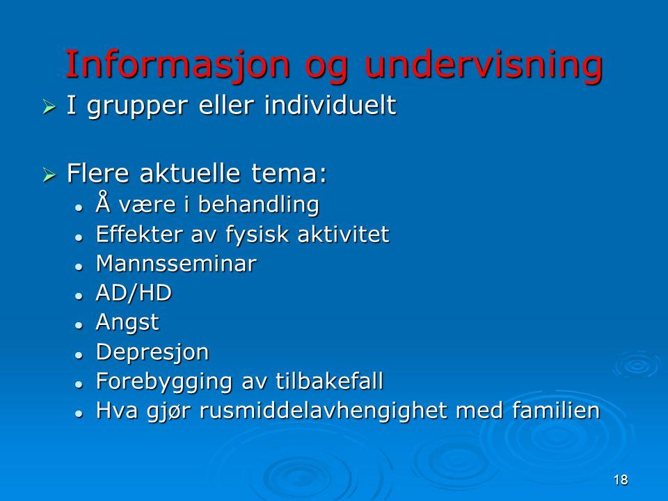 Informasjon og undervisning