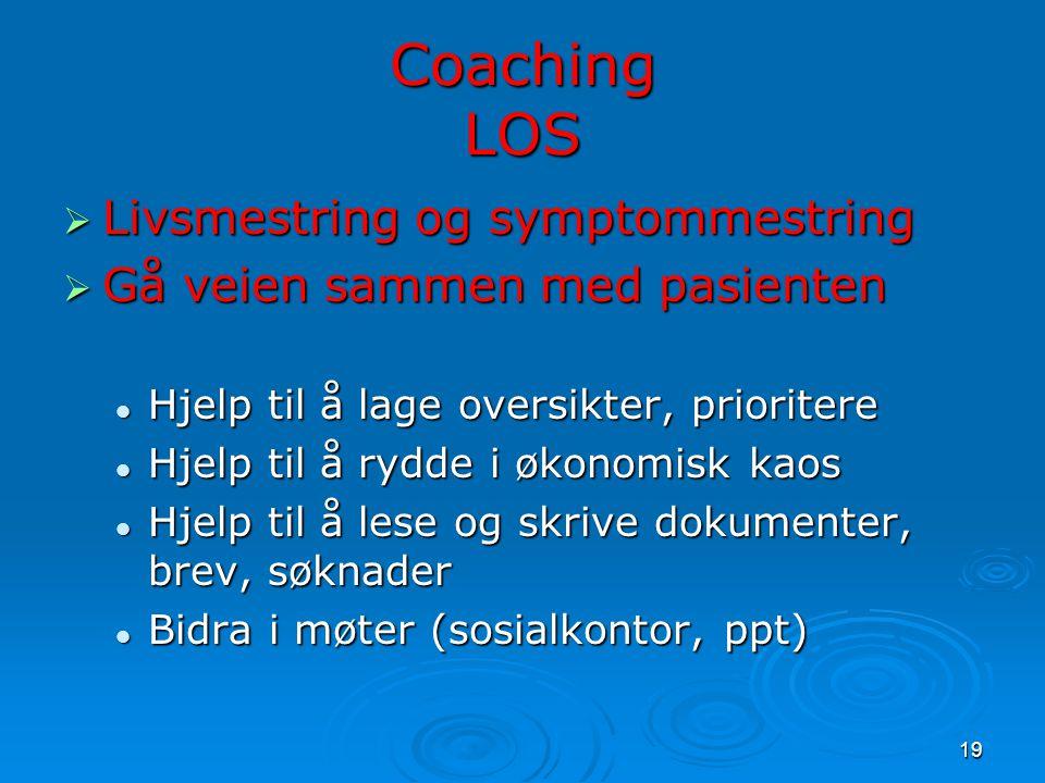 Coaching LOS Livsmestring og symptommestring