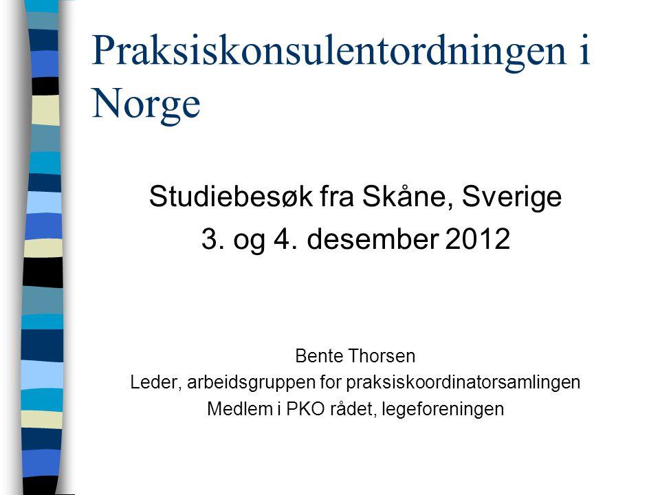 Praksiskonsulentordningen i Norge