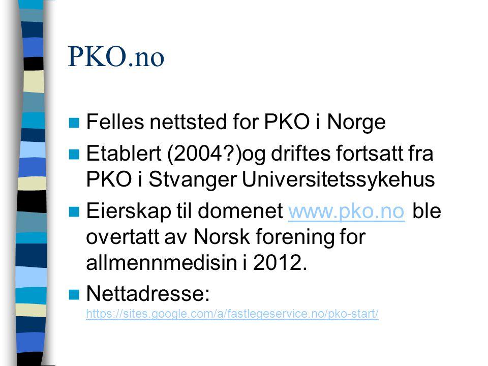 PKO.no Felles nettsted for PKO i Norge