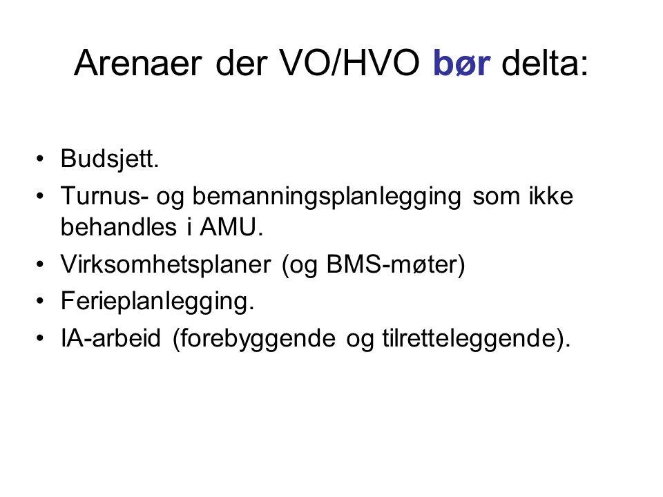Arenaer der VO/HVO bør delta: