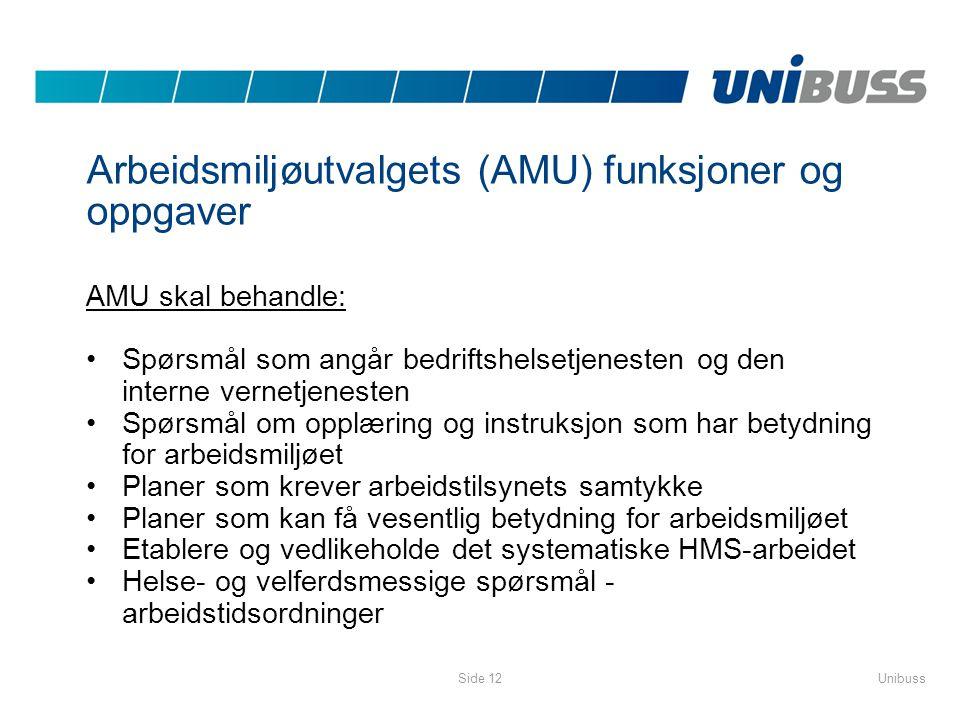 Arbeidsmiljøutvalgets (AMU) funksjoner og oppgaver
