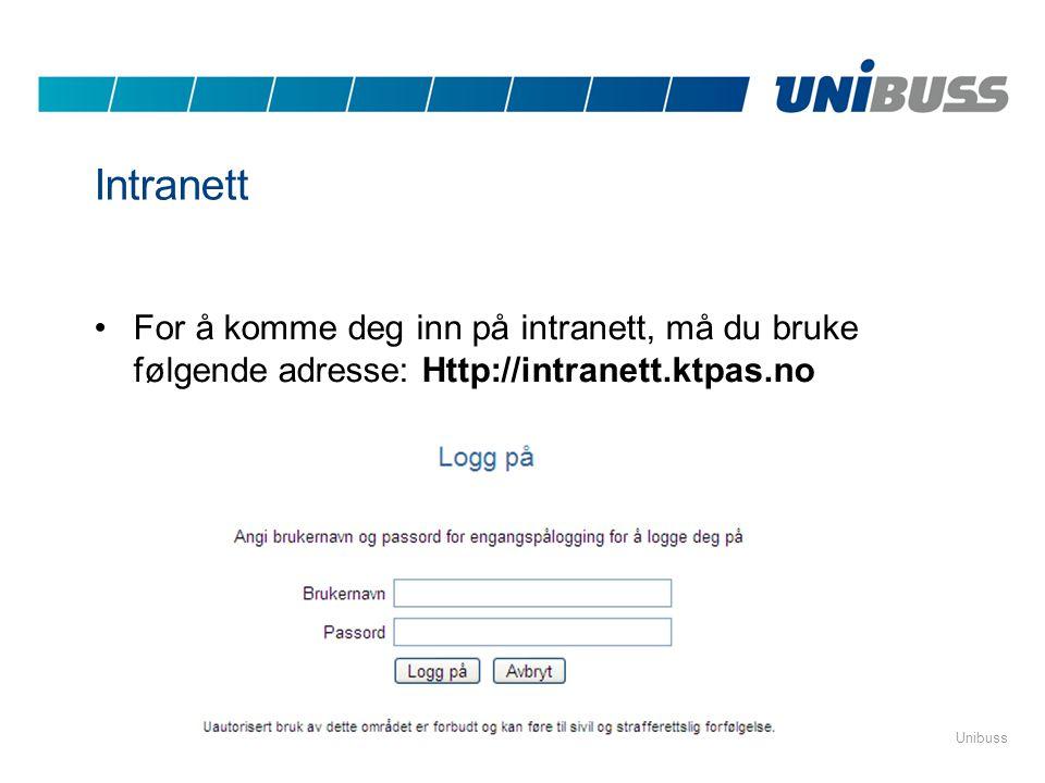 Intranett For å komme deg inn på intranett, må du bruke følgende adresse: Http://intranett.ktpas.no.