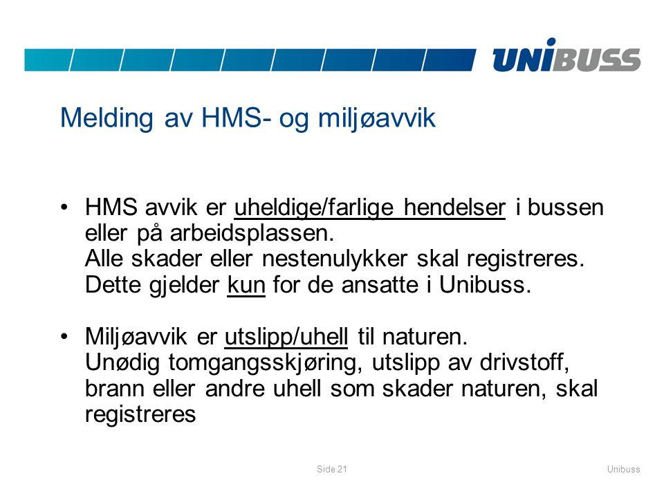 Melding av HMS- og miljøavvik