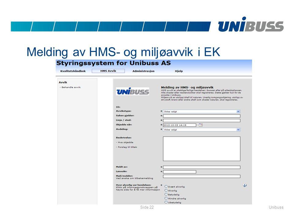 Melding av HMS- og miljøavvik i EK
