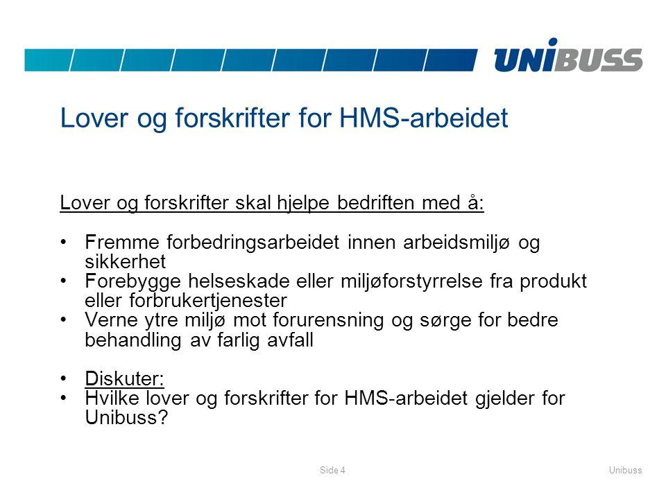 Lover og forskrifter for HMS-arbeidet