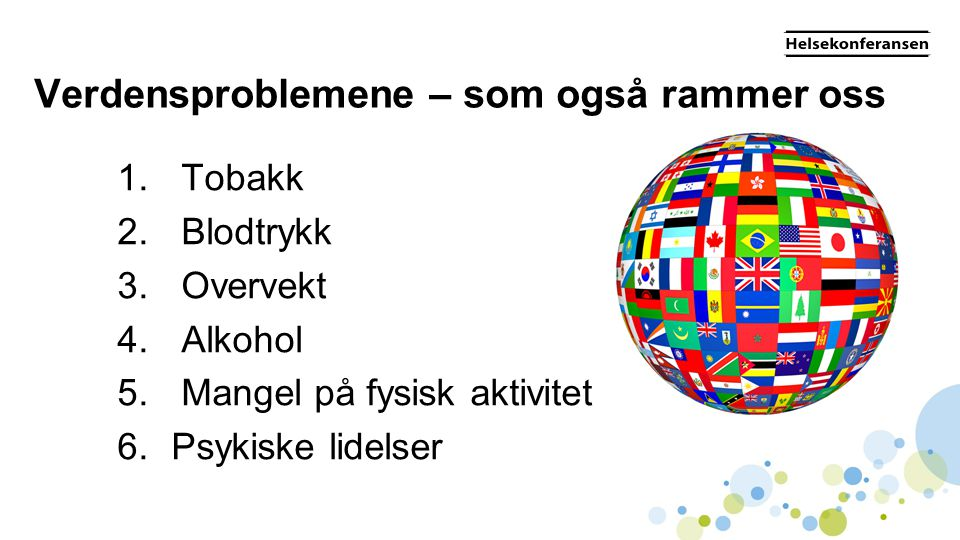 Verdensproblemene – som også rammer oss