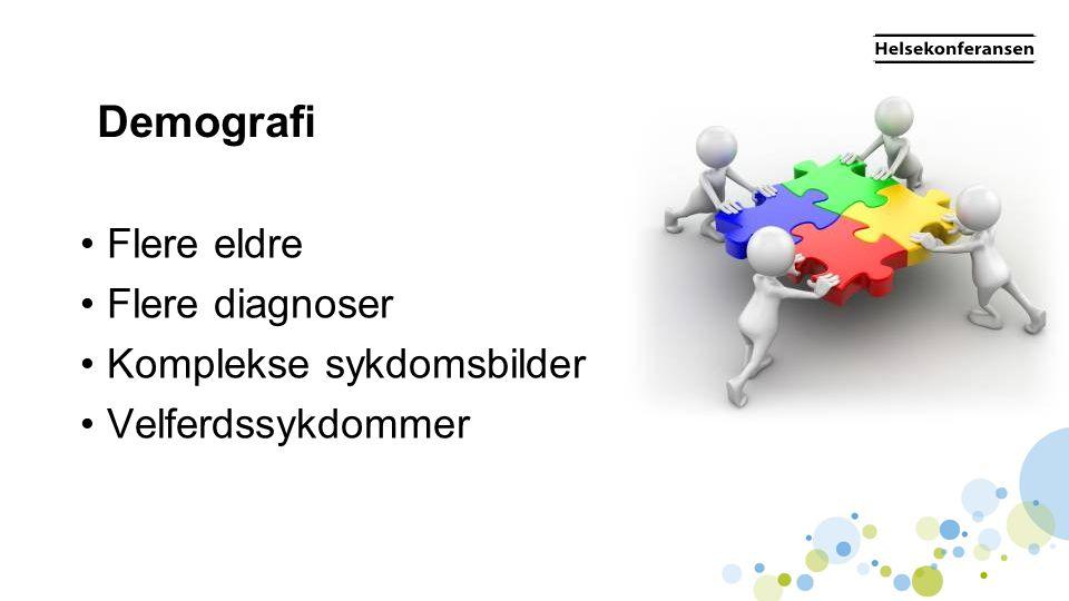 Demografi Flere eldre Flere diagnoser Komplekse sykdomsbilder