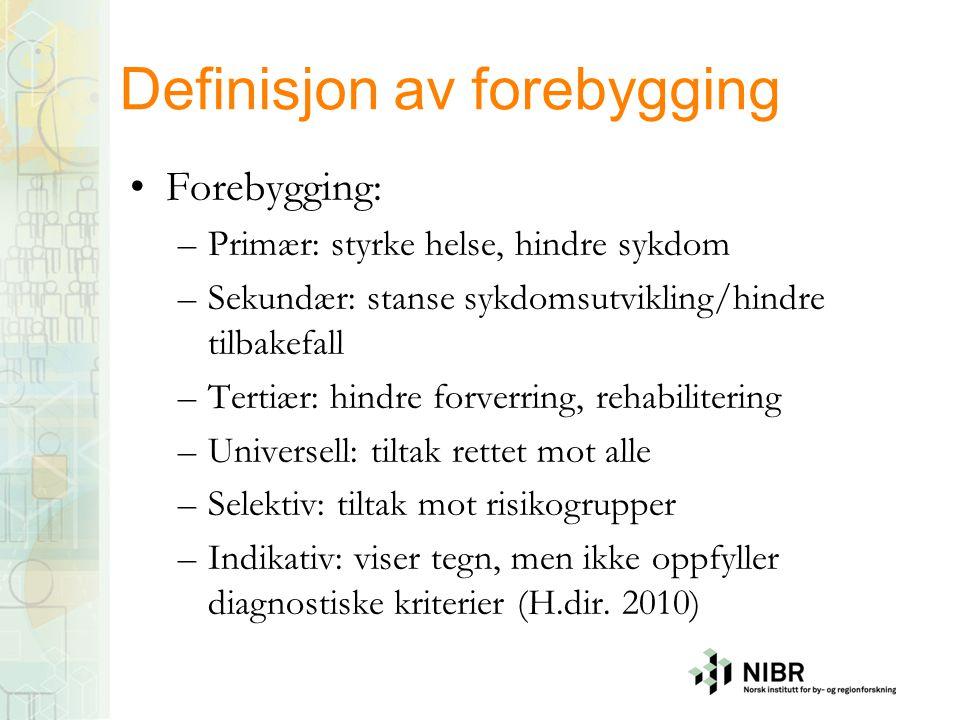 Definisjon av forebygging