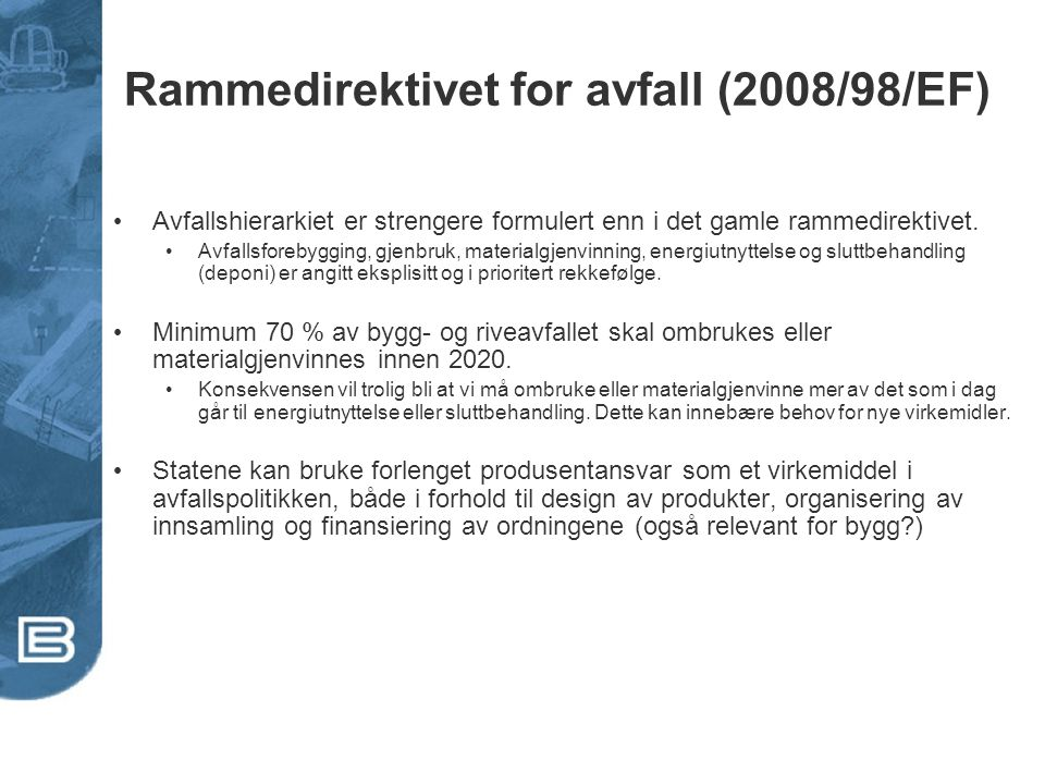 Rammedirektivet for avfall (2008/98/EF)