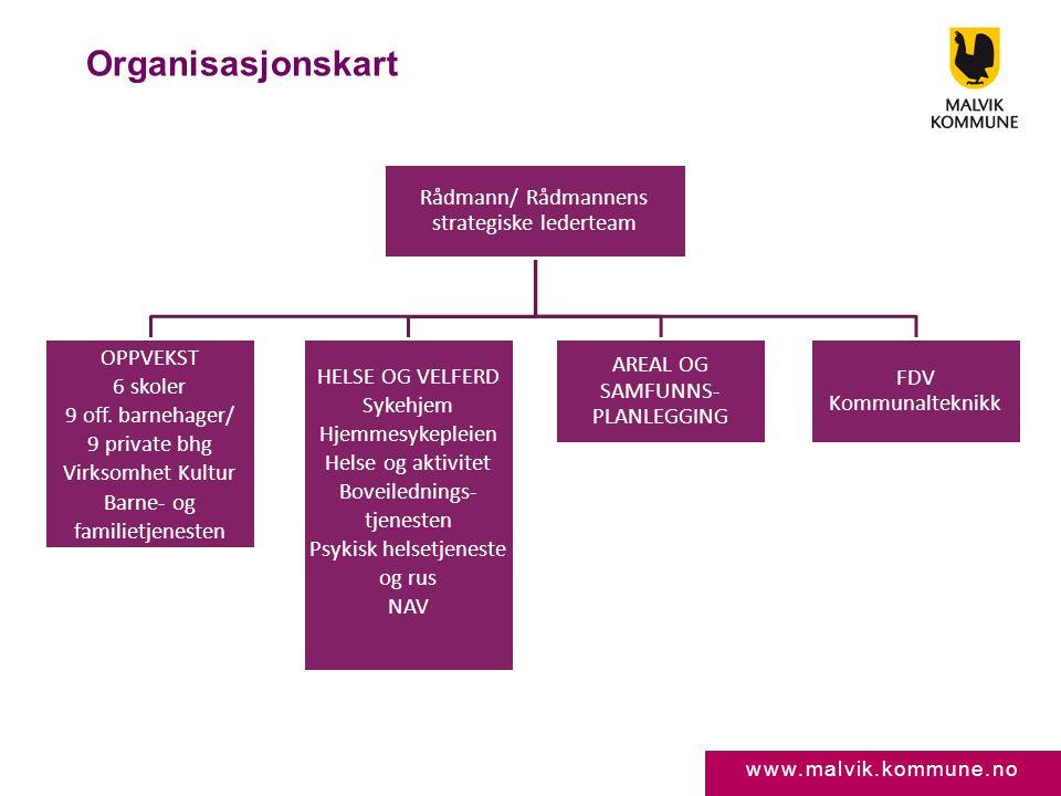 Organisasjonskart Rådmann/ Rådmannens strategiske lederteam OPPVEKST