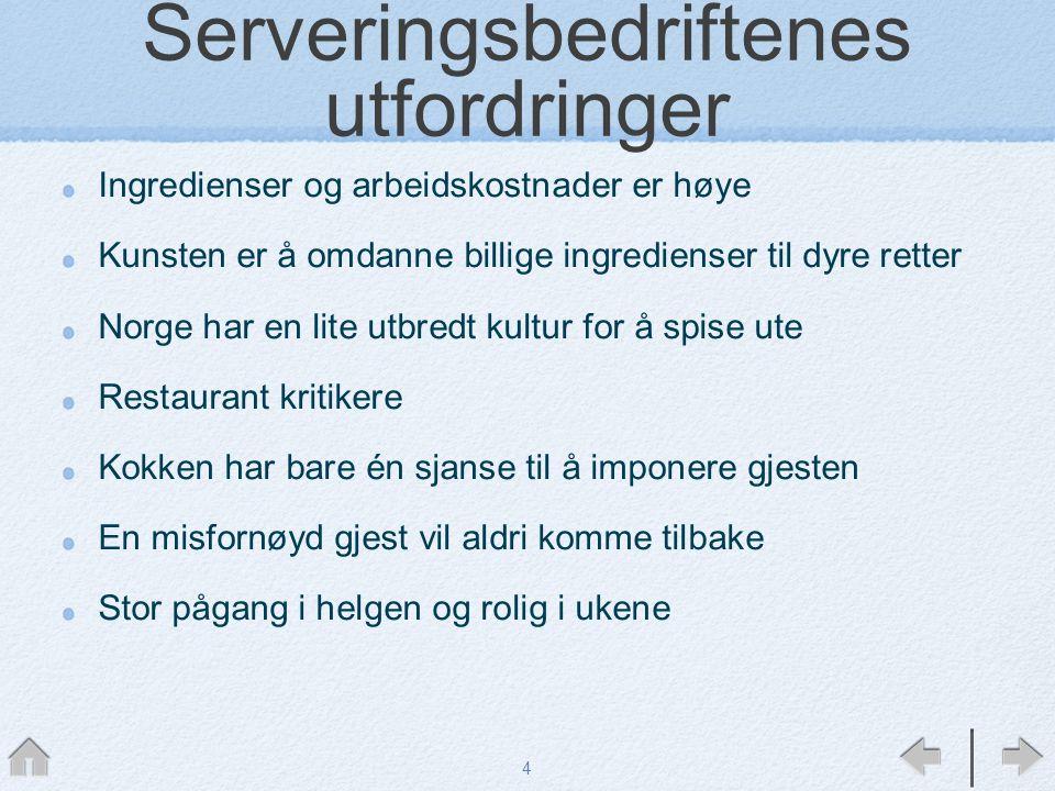 Serveringsbedriftenes utfordringer