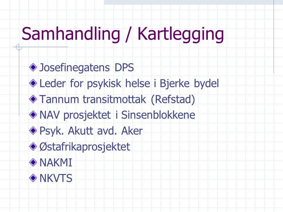 Samhandling / Kartlegging