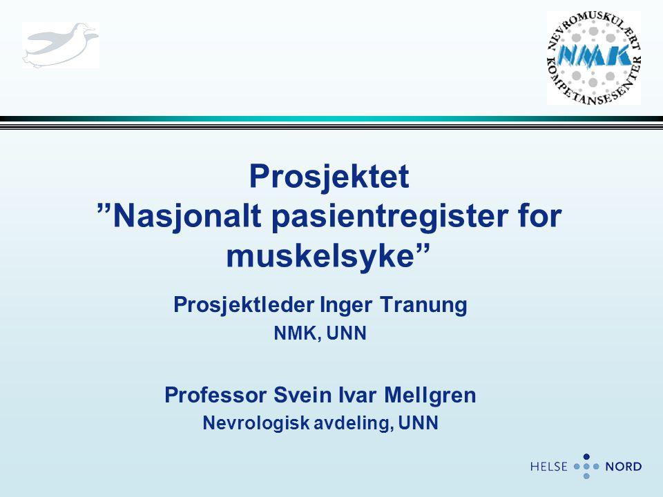 Prosjektet Nasjonalt pasientregister for muskelsyke