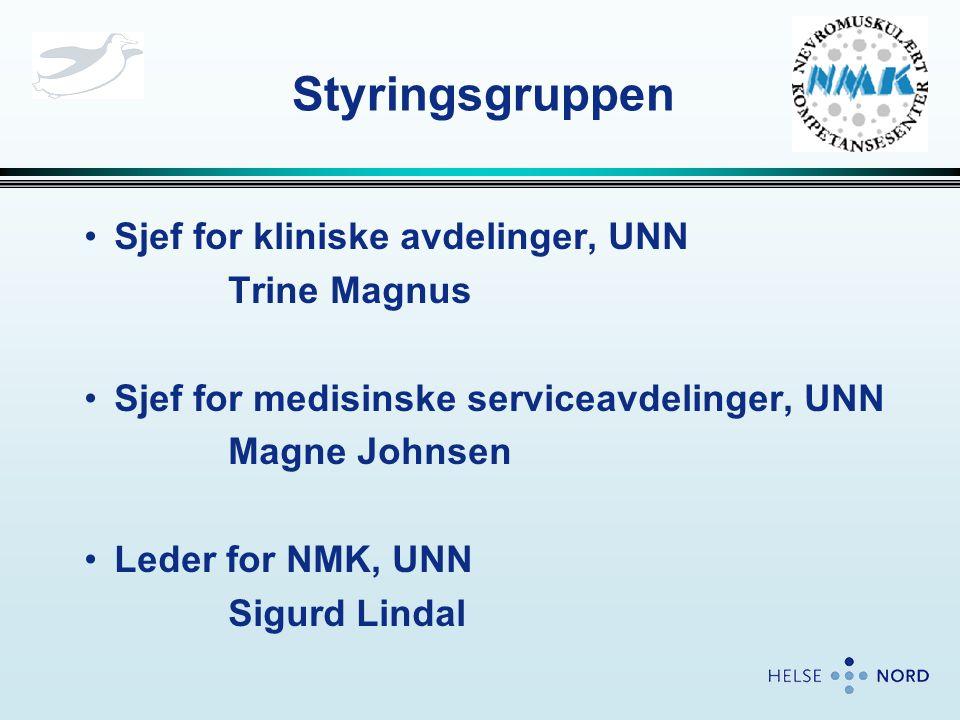 Styringsgruppen Sjef for kliniske avdelinger, UNN Trine Magnus